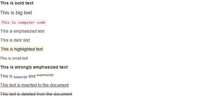 Bootstrap 3 Text