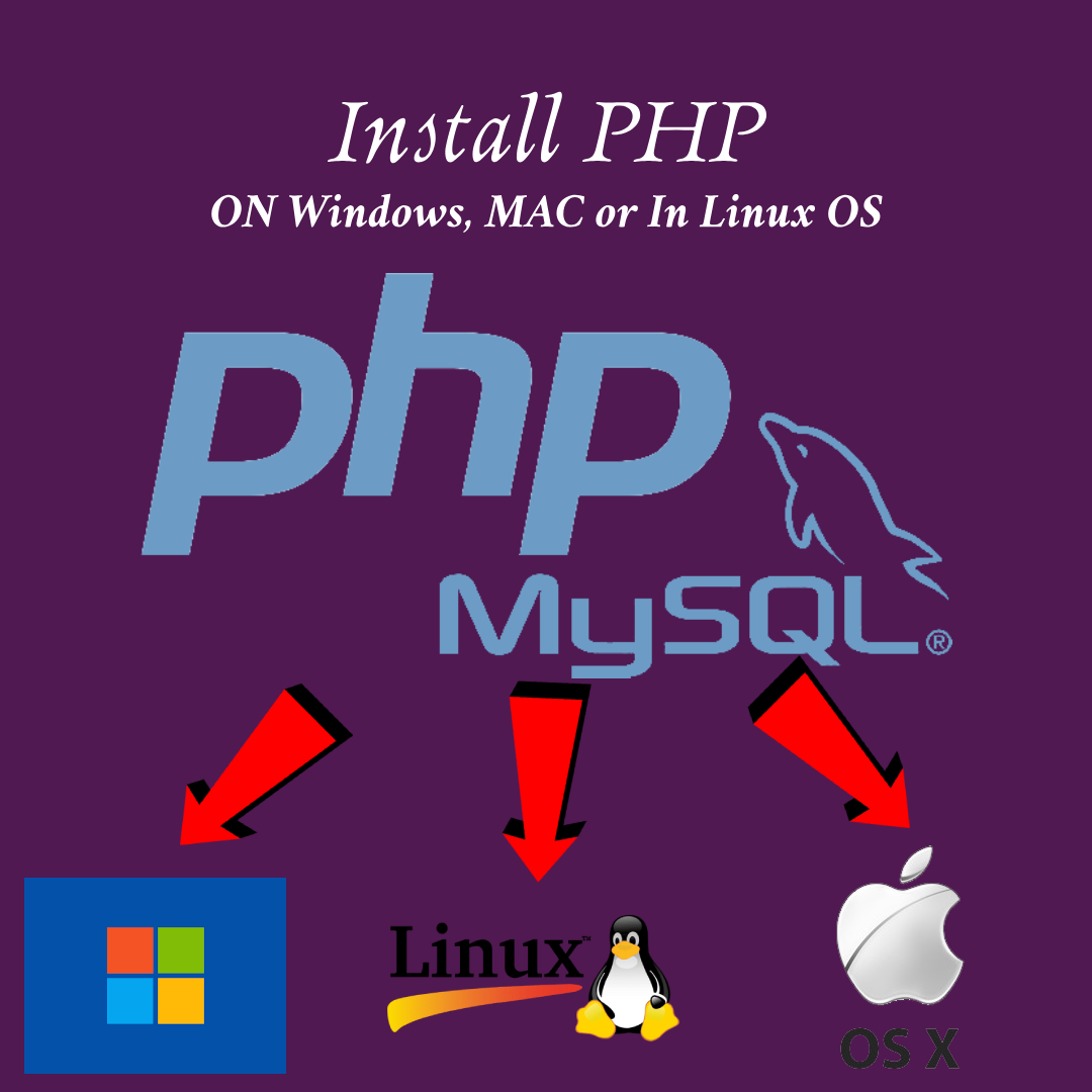How to install PHP in windows, Linux or in Mac OS.